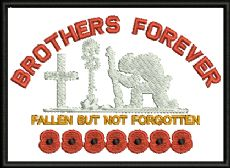Brothers Forever Embroidered Badge